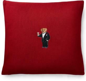 Ralph Lauren Martini Bear Throw Pillow