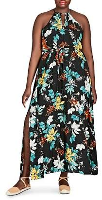 City Chic Plus Tropical Night Maxi Dress