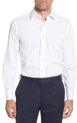 Lorenzo Uomo Trim Fit Seersucker Dress Shirt