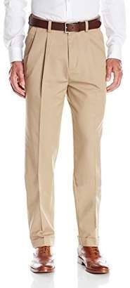 Savane Men's Pleated Khaki Dress Pant