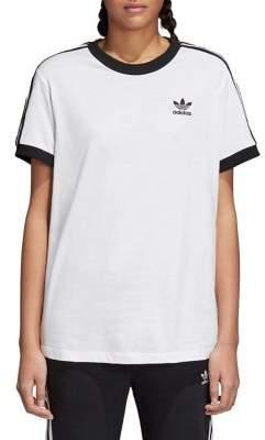 Adidas Adicolor Three-Stripes Cotton Tee