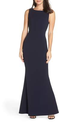 LuLu*s Mine Backless Trumpet Gown