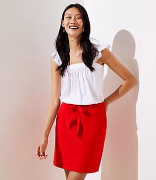 LOFT Petite Textured Jogger Skirt