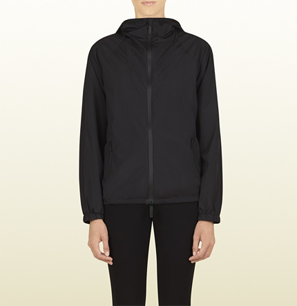 Gucci Women's Grey Light Matte Stretch Nylon Multi-Pocket Parka From Viaggio Collection