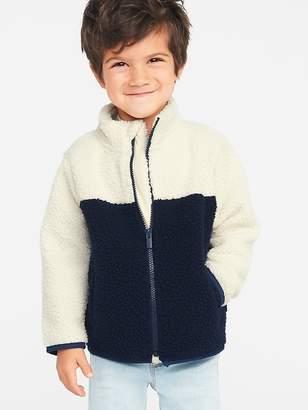 Old Navy Mock-Neck Sherpa Zip Jacket for Toddler Boys