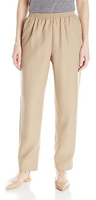 Alfred Dunner Women's Petite Poly Proportioned Medium Pant