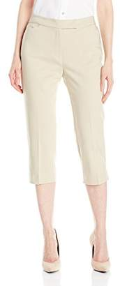 Fly London Ruby Rd. Women's Petite Classic Front Double-face Stretch Capri
