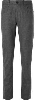 Canali Virgin Wool-flannel Trousers - Dark gray