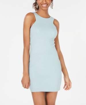 Speechless Juniors' Glitter-Knit Bodycon Dress
