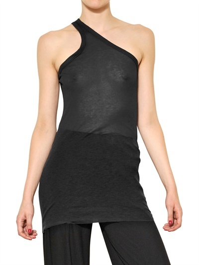 Rick Owens Light Viscose Cotton Jersey Tank Top