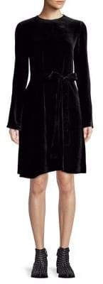 Theory Long-Sleeve Velvet Dress