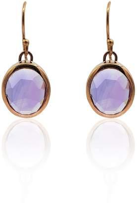 Eliza J Bautista Aissa Amethyst Earrings In 18K Rose Gold Vermeil On Sterling Silver