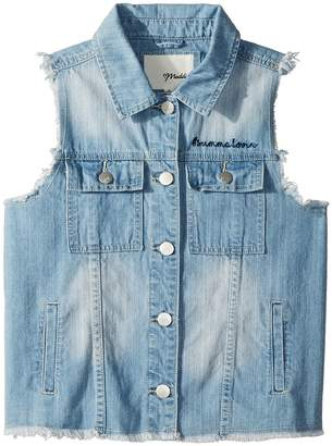 Maddie by Maddie Ziegler Denim Vest with Flag Graphic Girl's Vest