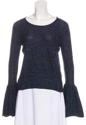 Co Long Sleeve Wool Top Blue Long Sleeve Wool Top