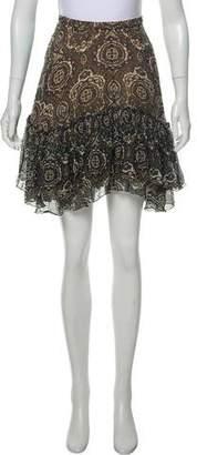 Chloé Silk Paisley Print Skirt