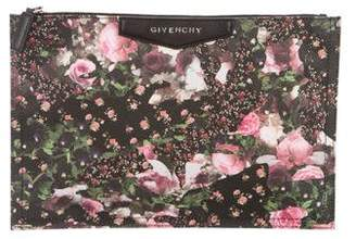 Givenchy Medium Antigona Floral Camo Zip Pouch