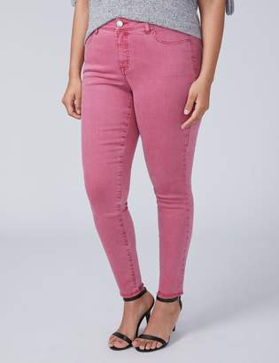 Power Pockets Super Stretch Skinny Ankle Jean - Rose Wine