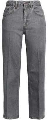 Marc Jacobs Cropped Faded High-rise Straight-leg Jeans