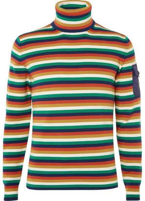 Moncler Genius Striped Merino Wool-Blend Ski Rollneck Base Layer