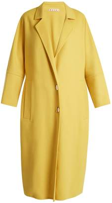 MARNI Oversized notch-lapel wool-blend coat