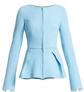 Roland Mouret Women's Rossini Wool Peplum Jacket