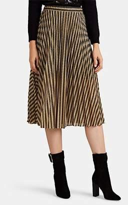 Philosophy di Lorenzo Serafini Women's Striped Lamé Midi-Skirt