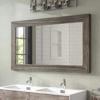 Union Rustic Landover Barnwood Bathroom Mirror