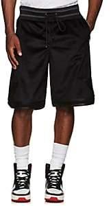 CARDONI Men's Star-Detailed Velour Basketball Shorts - Black
