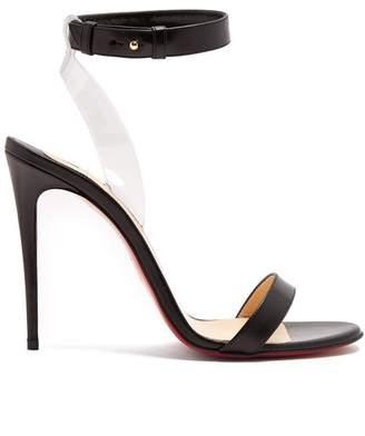 Christian Louboutin Jonatina 100 Leather Sandals - Womens - Black