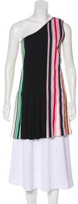 Diane von Furstenberg One-Shoulder Striped Tunic