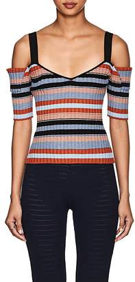 Ronny Kobo WOMEN'S TALIA STRIPED RIB-KNIT TOP