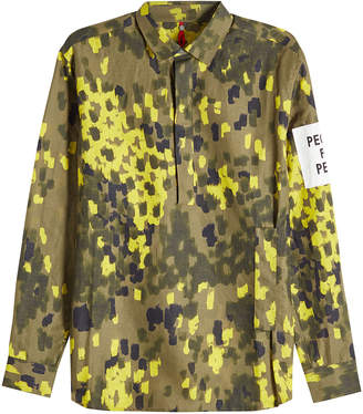 Oamc 68 Printed Shirt with Linen and Cotton