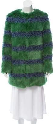 Shrimps Faux Fur Bobbin Coat