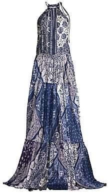 Polo Ralph Lauren Women's Paisley Halterneck Maxi Dress