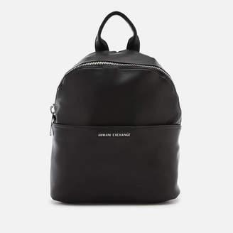 6959f84df333 Armani Exchange Women s Eco Logo Backpack - Black