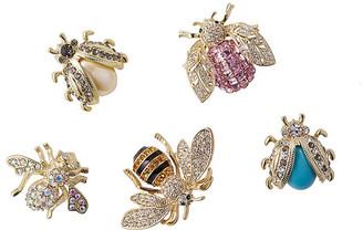 Joanna Buchanan Asst. of 5 Mini-Bug Clip Ornaments - Pink