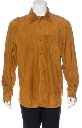Beretta Suede Button-Up Shirt