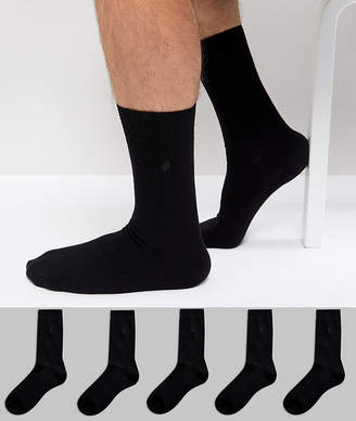 Burton Menswear 5 Pack Socks In Black