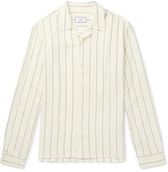 Ami Pinstriped Woven Shirt