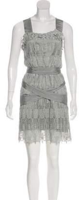 Thomas Wylde Lace Knee-Length Dress Lace Knee-Length Dress