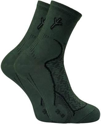 Hunter Dr 2 Pack Mens Thin Antibacterial Anti Sweat Moisture Wicking Cotton Hiking Socks