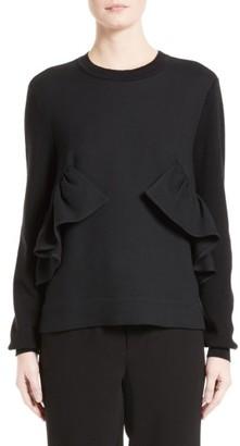 Women's Marni Ruffle Crewneck Sweater $1,150 thestylecure.com