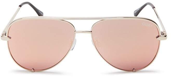 Quay Women's High Key Mini Aviator Sunglasses, 53mm