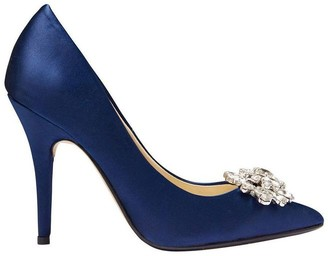 Keisha Bright Navy Satin
