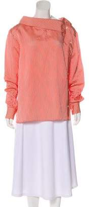 Altuzarra Asymmetrical Striped Blouse