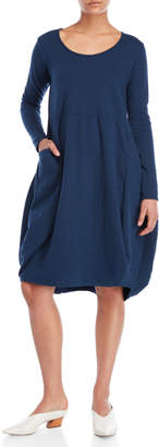 Made In Italy Long Sleeve Oversize Pocket Dress