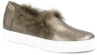 Rachel Zoe Burke Genuine Rabbit Fur Leather Slip-On Sneaker
