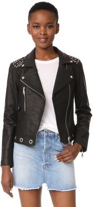 Rebecca Minkoff Bougainvillea Moto Jacket $698 thestylecure.com