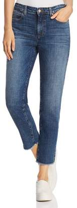 Eileen Fisher Frayed Ankle Jeans in Aged Indigo