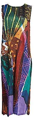 Pleats Please Issey Miyake Women's Swinging Spices Sleeveless Midi Dress